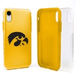 Guard Dog Iowa Hawkeyes Clear Hybrid Phone Case for iPhone XR with Guard Glass Screen Protector