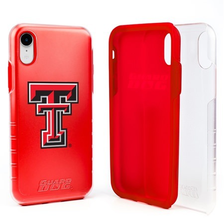 Guard Dog Texas Tech Red Raiders Clear Hybrid Phone Case for iPhone XR