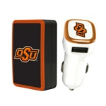 Oklahoma State Cowboys Wall Charger / Car Charger Pack