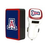 Arizona Wildcats Wall Charger / Car Charger Pack