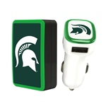 Michigan State Spartans Wall Charger / Car Charger Pack