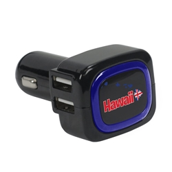 Hawaii Islands 4-Port USB Car Charger