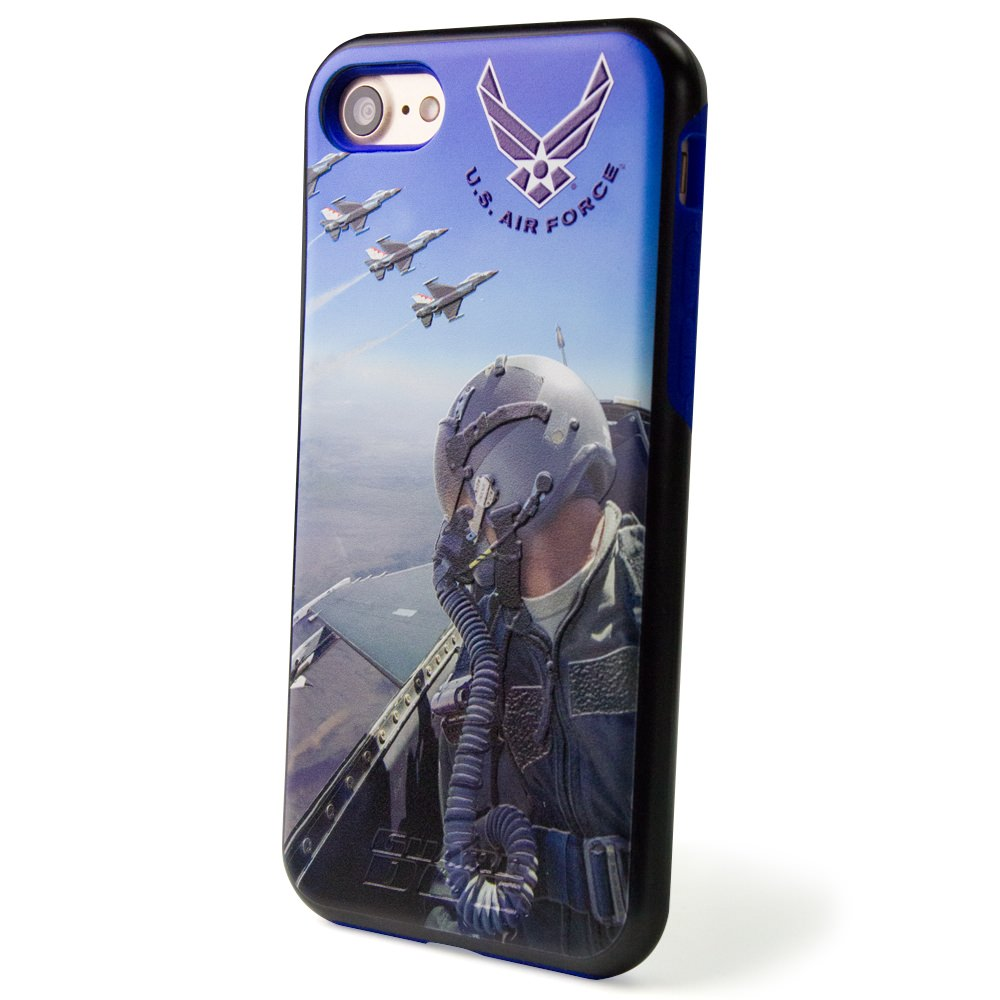 us air force full print 3d hybrid case for iphone 7 8 with guard glass screen protector mobilemars. Black Bedroom Furniture Sets. Home Design Ideas