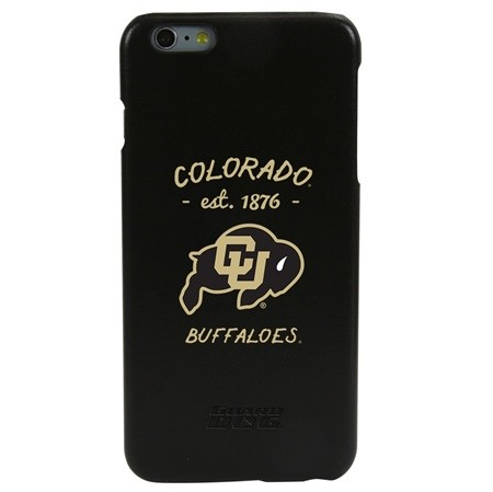 Guard Dog Colorado Buffaloes Genuine Leather Phone Case for iPhone 6 Plus/6s Plus with Guard Glass Screen Protector