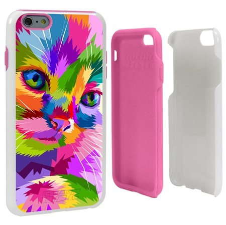 Guard Dog Kaleidoscope Cat Hybrid Phone Case for iPhone 6 Plus / 6s Plus