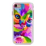 Guard Dog Kaleidoscope Cat Hybrid Phone Case for iPhone 7/8/SE