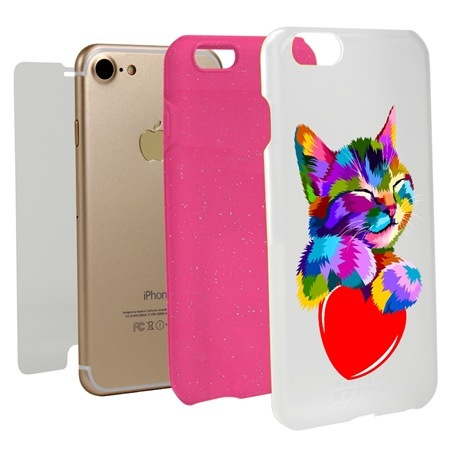 Guard Dog Love Kitty Hybrid Phone Case for iPhone 7/8/SE