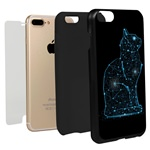 Guard Dog Stellar Cat Hybrid Phone Case for iPhone 7 Plus / 8 Plus with Guard Glass Screen Protector