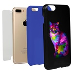 Guard Dog Motley Cat Hybrid Phone Case for iPhone 7 Plus / 8 Plus with Guard Glass Screen Protector