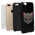 Guard Dog India Ink Cat Hybrid Phone Case for iPhone 7 Plus / 8 Plus with Guard Glass Screen Protector