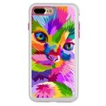 Guard Dog Kaleidoscope Cat Hybrid Phone Case for iPhone 7 Plus / 8 Plus