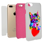 Guard Dog Love Kitty Hybrid Phone Case for iPhone 7 Plus / 8 Plus with Guard Glass Screen Protector