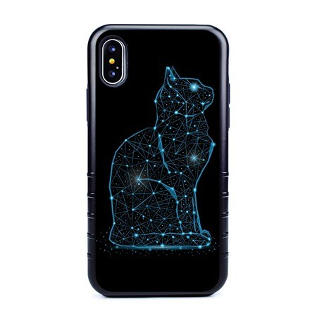 Guard Dog Stellar Cat Hybrid Phone Case for iPhone X / XS with Guard Glass Screen Protector