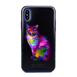 Guard Dog Motley Cat Hybrid Phone Case for iPhone X / XS with Guard Glass Screen Protector