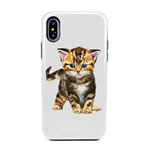 Guard Dog Here Kitty Kitty Hybrid Phone Case for iPhone X / XS with Guard Glass Screen Protector