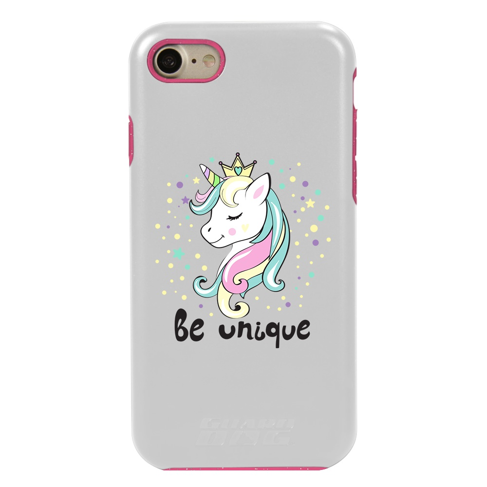 White Guard Dog Hybrid Case for iPhone 7//8//SE