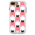 Guard Dog Checkerboard Kitties Hybrid Phone Case for iPhone 7 Plus / 8 Plus