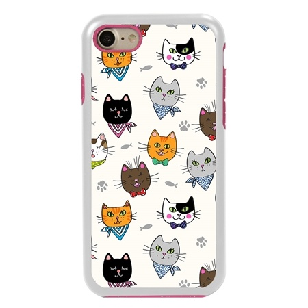 Guard Dog Bandanas and Bows Cat Hybrid Phone Case for iPhone 7/8/SE