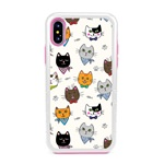Guard Dog Bandanas and Bows Cat Hybrid Phone Case for iPhone X / XS with Guard Glass Screen Protector