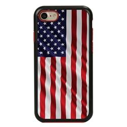 Guard Dog Star Spangled Banner Rugged American Flag Hybrid Phone Case for iPhone 7/8/SE , Black