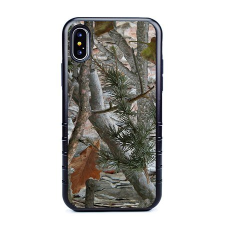 Guard Dog Pine and Oak Camo Hybrid Case for iPhone X / XS , Black