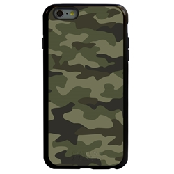Guard Dog Jungle Camo Hybrid Case for iPhone 6 Plus / 6S Plus , Black with Black Silicone
