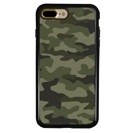 Guard Dog Jungle Camo Hybrid Case for iPhone 7 Plus / 8 Plus , Black with Black Silicone