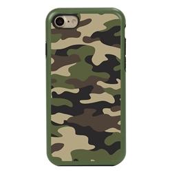 Guard Dog Commando Camo Hybrid Case for iPhone 7/8/SE , Green with Black Silicone
