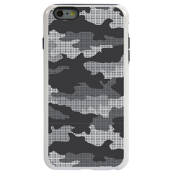 Guard Dog Alpine Camo Hybrid Case for iPhone 6 Plus / 6S Plus , White with Black Silicone