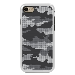 Guard Dog Alpine Camo Hybrid Case for iPhone 7/8/SE , White with Black Silicone