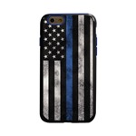 Guard Dog Legend Thin Blue Line Cases for iPhone 6 / 6s , Black / Blue