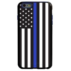 Guard Dog Honor Thin Blue Line Cases for iPhone 6 Plus / 6s Plus , Black / Blue