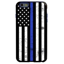 Guard Dog Hero Thin Blue Line Cases for iPhone 6 Plus / 6s Plus , Black / Blue