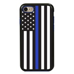 Guard Dog Honor Thin Blue Line Cases for iPhone 7/8/SE , Black / Blue