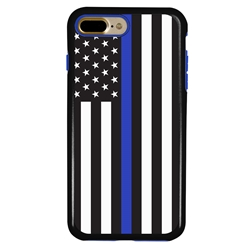 Guard Dog Honor Thin Blue Line Cases for iPhone 7 Plus / 8 Plus , Black / Blue