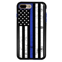 Guard Dog Hero Thin Blue Line Cases for iPhone 7 Plus / 8 Plus , Black / Blue