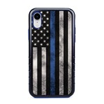 Guard Dog Legend Thin Blue Line Cases for iPhone XR , Black / Blue