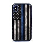 Guard Dog Legend Thin Blue Line Cases for iPhone XS Max , Black / Blue