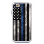 Guard Dog Legend Thin Blue Line Cases for iPhone 7/8/SE , white / Blue