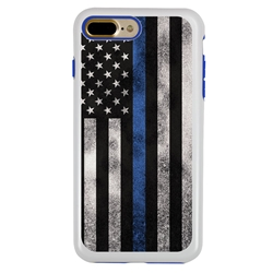 Guard Dog Legend Thin Blue Line Cases for iPhone 7 Plus / 8 Plus , white / Blue