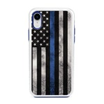 Guard Dog Legend Thin Blue Line Cases for iPhone XR , white / Blue