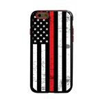 Guard Dog Hero Thin Red Line Cases for iPhone 6 / 6s , Black / Red