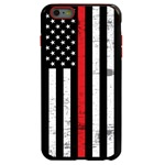Guard Dog Hero Thin Red Line Cases for iPhone 6 Plus / 6s Plus , Black / Red