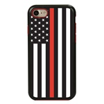 Guard Dog Honor Thin Red Line Cases for iPhone 7/8/SE , Black / Red