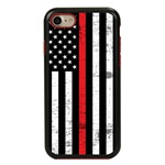 Guard Dog Hero Thin Red Line Cases for iPhone 7/8/SE , Black / Red