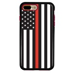 Guard Dog Honor Thin Red Line Cases for iPhone 7 Plus / 8 Plus , Black / Red