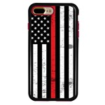 Guard Dog Hero Thin Red Line Cases for iPhone 7 Plus / 8 Plus , Black / Red
