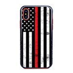 Guard Dog Hero Thin Red Line Cases for iPhone X / XS with Guard Glass Screen Protector, Black / Red