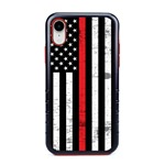 Guard Dog Hero Thin Red Line Cases for iPhone XR , Black / Red