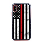 Guard Dog Hero Thin Red Line Cases for iPhone XS Max , Black / Red